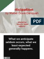 Anticipation-Afro-Asian Literature