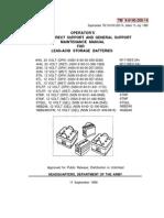 Lead -Acid Battery Maintenance Manual Sept.1998 133 Pages TM-9-6140-200-14