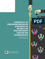 Извештај за овозможувачката околина за развој на граѓанскиот сектор во Македонија