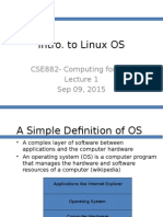 Intro. to OS