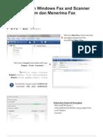 Panduan Windows Fax and Scanner di windows 7