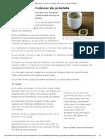 El Té Verde y El Cáncer de Próstata