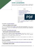 Te Verde_ Elaboración y Propiedades