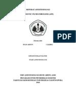 Cover Referat Anestesiologi