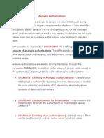 Analysis Authorizations