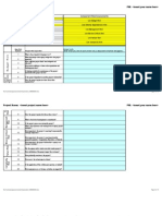 Project Risk Template