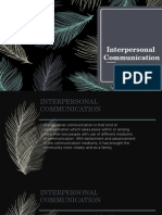 Interpersonal Speech