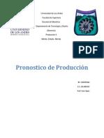 Pronostico de Produccion