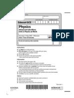Physics Jun 2009 Actual Exam Paper Unit 2