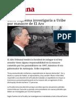 Uribe y La Masacre Del Aro