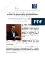 Fundación Nuevo Periodismo Iberoamericano presentará en #PerDebate15 un perfil del periodismo actual en América Latina
