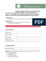 Entry Form Marketing