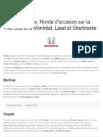 Honda à vendre, Honda d'occasion sur la Rive-Sud et à Montréal, Laval et Sherbrooke | GPA