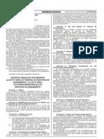 Decreto Legislativo N° 1240 - Modifica la Ley 26338 Ley General de Saneamiento y la Ley 30045 Ley de Modernización