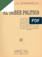 El Deber Político - Rafael Gumucio