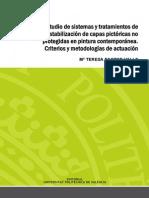 PASTOR - Estudio de Sistemas y Tratamientos de Estabilización de Capas Pictóricas No Protegidas e...