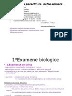 Explorarea Paraclinica Nefro-urinara