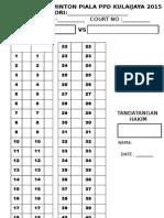 Badminton Score Sheet 233