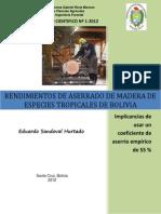 dc 2012 1 rendimiento de aserrio de especies tropicales de bolivia