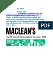 29  top 50 socially responsible companies 2013