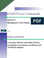 Food safe level  2 part 3