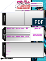 OVA JoJo Character Sheet Jotaro