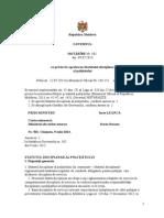 HOTĂRÎRE Nr. 502 Cu Privire La Aprobarea Statutului Disciplinar Al Poliţistului