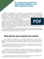 Valorización de Concesiones Mineras de Potenciales Yacimientos Metálicos 987286320 ARENALES YAUPARI