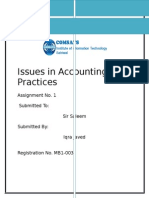 Issues in Accounting Practices