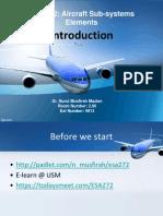 ESA 272 Introduction