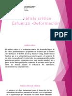 Analisis Critico Esfuerzo-Deformacion