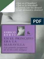 """""""Preguntas de La Filosofia Antigua""""  Berti Enrico"""