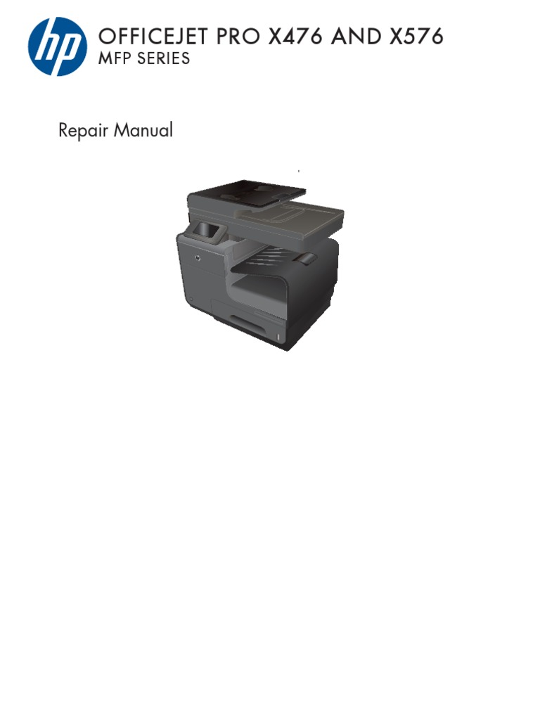 Officejet Pro X476 X576 Repair Manual | Electrostatic Discharge | Trademark