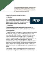 DEFINICIÓNES DE INFORMÁTICA.