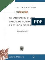 As Cantigas de d. Joan Garcia de Guilhade e Estudos Dispersos