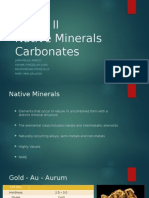Group II Native Minerals and Carbonates