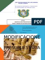 Modificaciones Presupuestarias Nelita