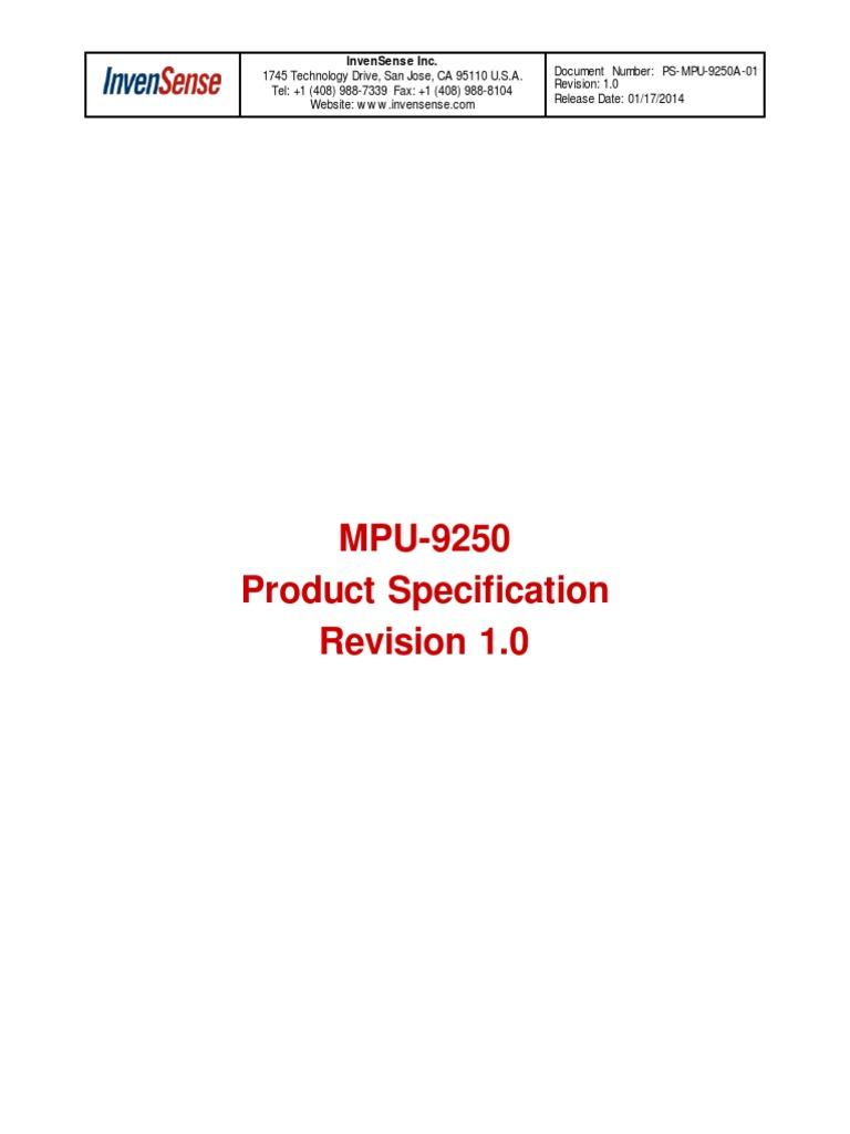 MPU9250 REV1 0 9-Axis Gyro-Accel-Magnet | Gyroscope | Accelerometer