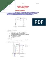 Homework of Bernoulli Eq