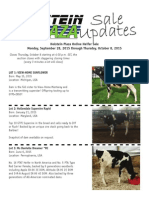 Sale Update Online Heifer Sale Fall Edition