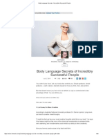 Body Language Secrets of Incredibly Successful People