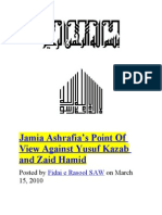 Jamia Ashrafia's Point Of View Against Yusuf Kazab and Zaid Hamid