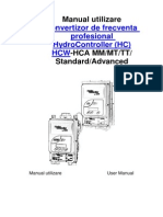 Manual utilizare convertizor de frecventa profesional HydroController (HC) HCW-HCA MM/MT/TT/ Standard/Advanced