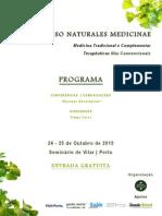 Programa do III Congresso Naturales Medicinae