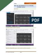 El Entorno de Desarrollo Visual Studio2012