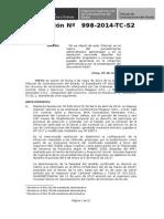 Resolución 0998 2014 TC S2