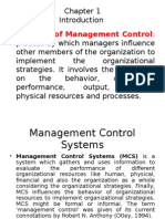 Management Control System
