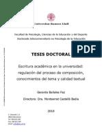 Tesis Doctoral Escritura Academica en La Universidad Regulacion Del Proceso de Composicion Conocim(1)