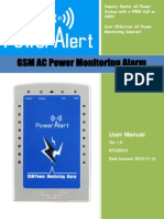 Alarma RTU5012 GSM AC Power Monitoring User Manual V1.0
