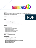 teens for peace club document